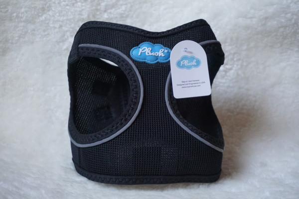 Plush Step In Air Mesh Harness Black