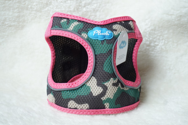 Plush Step In Air Mesh Harness Camo-Pink