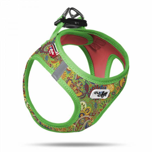 curli Vest Harness Air-Mesh Green-Floral